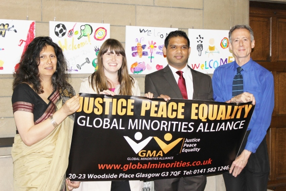 Speakers: L to R: Mridul Wadhwa, Deirdre Flanigan, Shahid Khan and Peter Tatchell