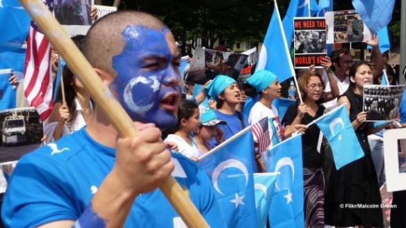Uighur protest
