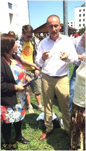 Mr Mihai Seplecan, President of the County Council of Cluj with Miss Sheeba Kiran, GMA