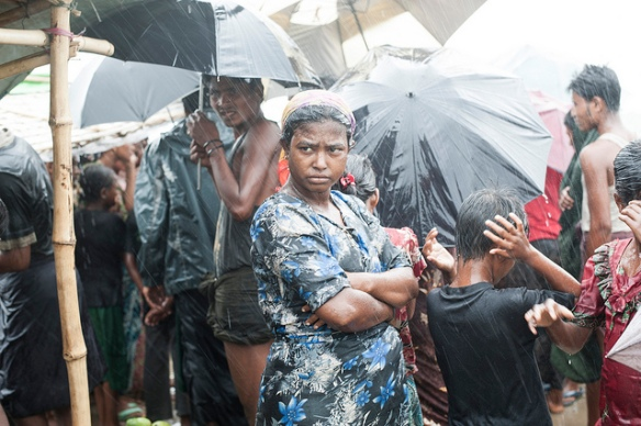 Rohingya Woman in the Rain