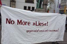 "Protest against Salafist ""Lies!"" (Read!) campaign in Essen's city centre"