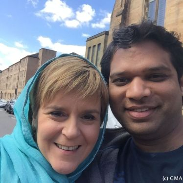 Shahid Khan with Nicola Sturgeon